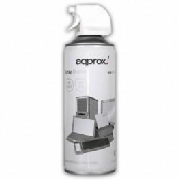 SPRAY LIMPIA POLVO DE AIRE COMPRIMIDO APPROX APP400SDV2 400ML ESPECIAL PARA ZONAS DIFICILES BLANCO